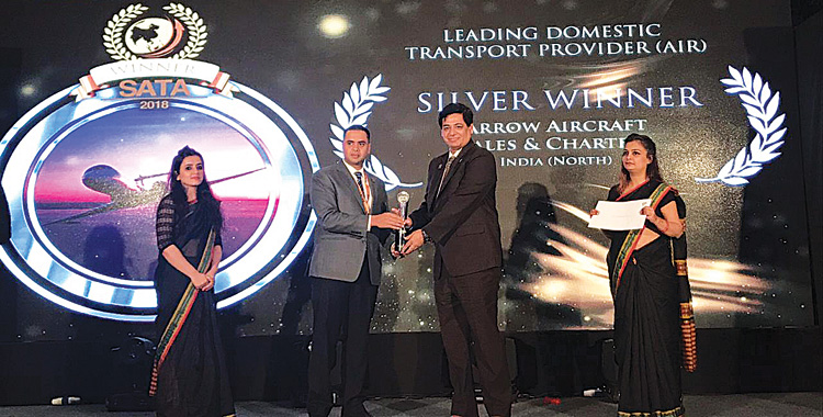Arrow Aircraft wins South Asian Travel Award 2018