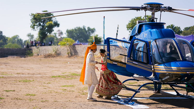 Add a Wow Factor to the Big Fat Indian wedding by using private aviation
