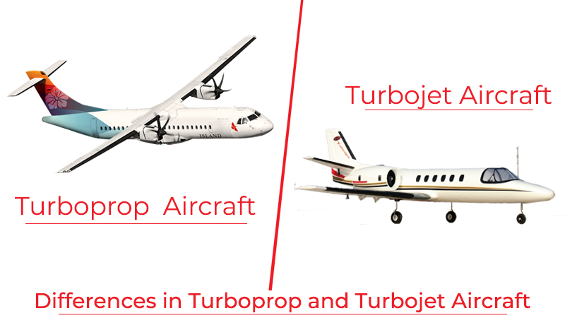 Differences in Turboprop and Turbojet Aircraft